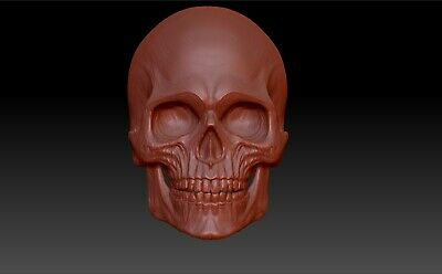 [3] SKULL 3D MODEL RELIEF STL VECTRIC RLF ARTCAM CNC 3d printer any size