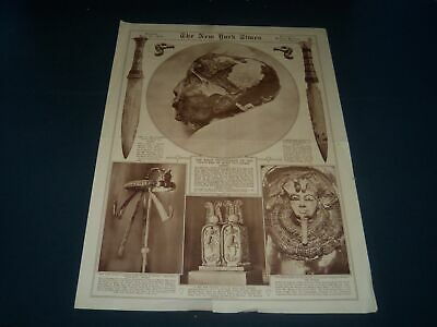 1926 July 25 New York Times Picture Section - King Tut - Great Photos - Nt 7375