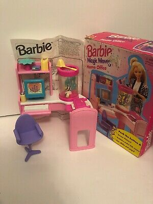 Vintage Barbie Magic Moves Home Office 1995 Complete With Box