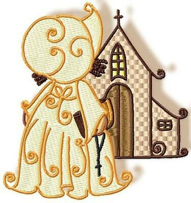 RELIGIOUS SUNBONNETS  10 MACHINE EMBROIDERY DESIGNS CD or USB