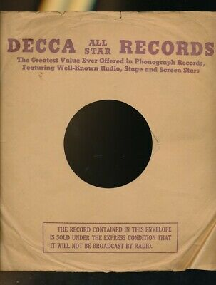 RECORD COMPANY SLEEVES, Decca 45rpm 7