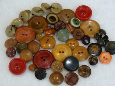 Amazing Lot Antique Vintage Carved & Dyed Vegetable Ivory Buttons