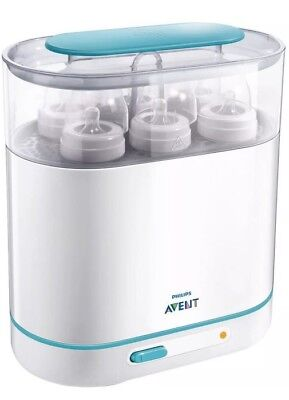 Philips Avent 3-in-1 Electric Steam Sterilizer - Baby Bottle Clean & Sterilize