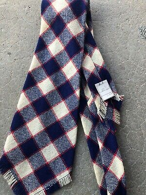 ORIGINAL 30S 40s ENSIGN WOOL AND SILK WOVEN PLAID  DEADSTOCK VINTAGE TIE
