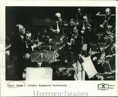 1981 Press Photo Karl Bohm, Musician & Conductor - The London Symphony Orchestra