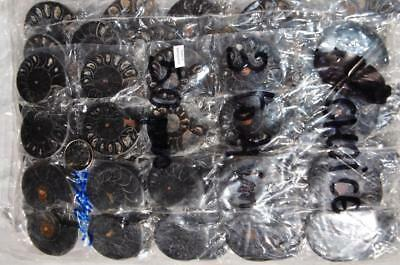 7948f LOT of FIFTY50 RARE 1in100 BLACK Ammonite PAIR Crystals FOSSIL SMALL 3-4cm