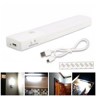 Rechargeable Magnetic Infrared Motion Sensor Wall Night LED Light Lamp Torch