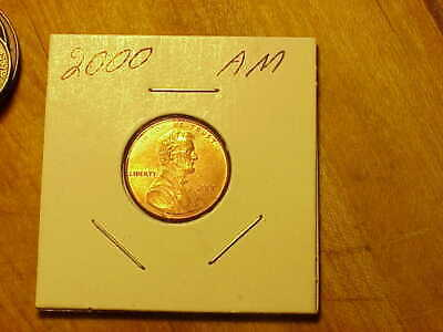 2000 Wide AM Lincoln Penny #1