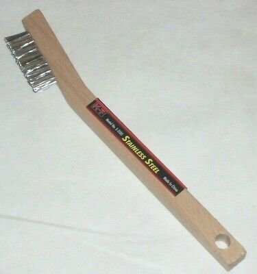KT Industries 5-2205 Stainless Steel Wire Brush Wood Handle 3/8 x 1 3/8 x 7 3/4