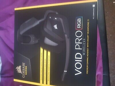 CORSAIR VOID PRO Wireless Carbon Headband Headsets for PC and can be used  Xbox 1