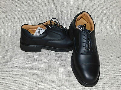 abf5193c909 CITY KNIGHTS BLACK Leather Safety Shoes SS501CM Size 8 NEW