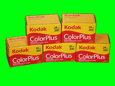 Kodak Color plus 200 24 Pictures 10 Films Mhd / Expiry Date 02/2021