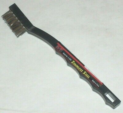 KT Industries 5-2203 Stainless Steel Cleaning Wire Brush Plastic Handle