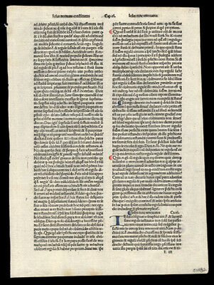 Rare Incunable Leaf 1485   Hand-Colored Letters The Passion of Christ Our Lord