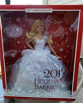 Holiday 2013 Barbie Doll Collectible Mattel New in Box 25th Anniversary