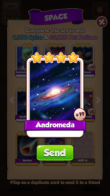 Andromeda coin master card fast delivery
