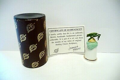 Thimble Sterling Classic Handpainted  Pewter Topper Of Leaping Frog Iob & Coa