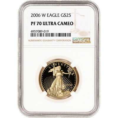 2006-W American Gold Eagle Proof 1/2 oz $25 - NGC PF70 UCAM