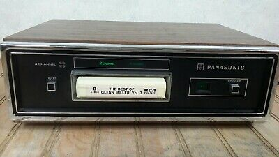 Panasonic RS 845US Quadraphonic 8 Track Home Stereo Player Deck Works Perfectly