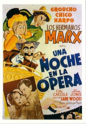 The Marx Brothers in A Night at the Opera Movie Spanish Postcard