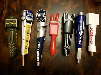 Draft Beer Tap Handle Lot Sam Adams Abita Red Hare Bud Light new and used lot