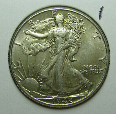 1942 Walking Liberty Half Dollar Au About Uncirculated     #1