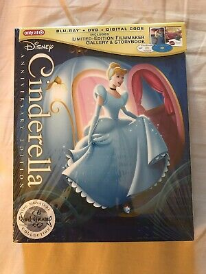 Cinderella Anniversary Edition (Blu-ray / DVD / Digital) Target Exclusive Sealed