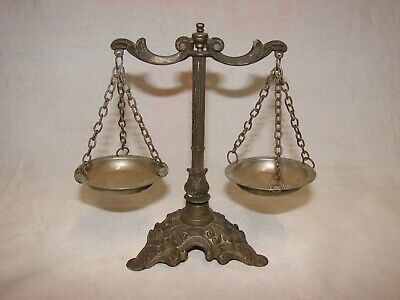 Vintage Ca 1960s Italy Scales of Justice Miniature Scales, Lawyer