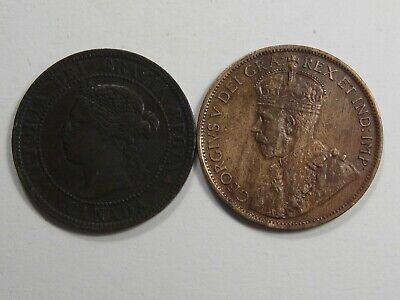 2 Better-grade Canada Large Cents. 1896 XF & 1912 AU.  #42