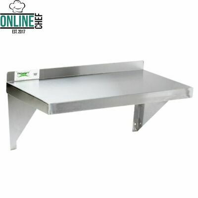 18 Gauge Commercial Stainless Steel Restaurant Kitchen Solid Wall Shelf Storage