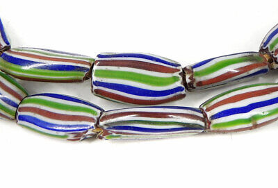 Rainbow Chevron Venetian Trade Beads Striped Melon Africa SALE WAS $29.00
