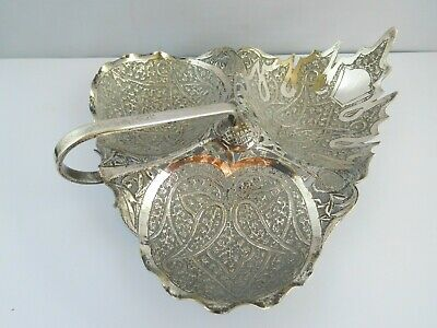 Charming Edwardian Solid Silver Indian Kutch Sugared Almond Dish