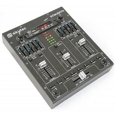 (B-Ware) 4 Kanal Mixer Dj Mischpult Bluetooth Usb & Sd Mp3 5 Band Equalizer