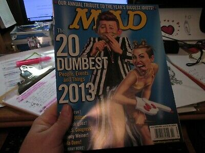 Mad Magazine-February 2014-20 Dumbest Of 2013-Nm-Mint Shape!