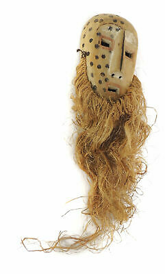 Lega Mask Bearded White Face Congo African Art SALE WAS $95.00