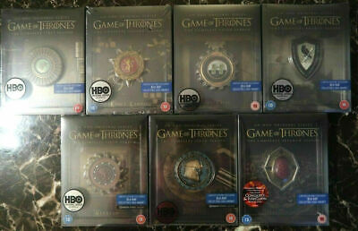 Game of thrones Steelbook Magnets Complete 1-7 Collection Collectors Sealed OOP