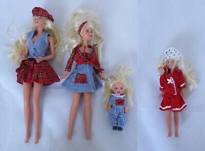 1996 Barbie Travellin Sisters Mattel Four Dolls + Some Accessories
