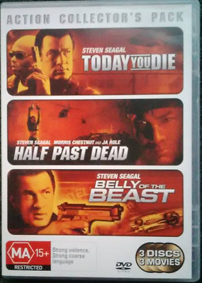 STEVEN SEAGAL TRIPLE BILL (R4 DVD) Today You Die, Half Past Dead, Belly Of The B