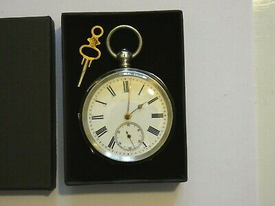 Beautiful Antique Swiss Hallmarked Silver Open Face Pocket Watch c 1900 / 1910.