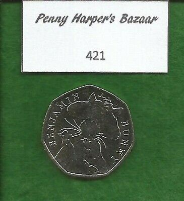 50p ~ 2017 ~ BEATRIX POTTER ~ BENJAMIN BUNNY ~ 421 ~ GREAT BRITISH COIN HUNT
