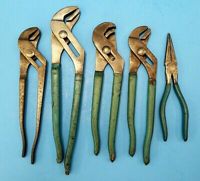 Set of 5 Vintage CHANNELLOCK USA Pliers  420 440 410 420 and 317