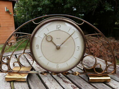 Lovely Unusual Vintage Wind Up Mantel Clock By Paico Scotland