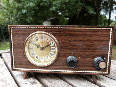 Lovely Unusual Vintage Musical Wind Up Alarm Clock By Rhythm