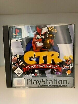 CTR Crash Team Racing Platinum Sony PlayStation 1 PSX PS1  mit OVP + Anleitung
