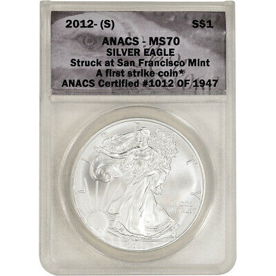 2012-(S) American Silver Eagle - ANACS MS70 - First Strike