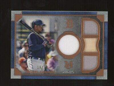 2019 Topps Museum Collection Miguel Cabrera Jersey Bat 19/75 Detroit Tigers