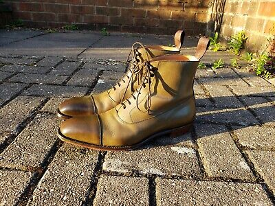bc23bba1237 £425 CHEANEY BRIXWORTH Balmoral Boots Boots Olive Green 9.5 F - Worn ~6  Times