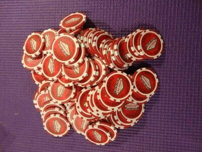 Two Pounds Of Las Vegas, Nevada Casino Chips Red White