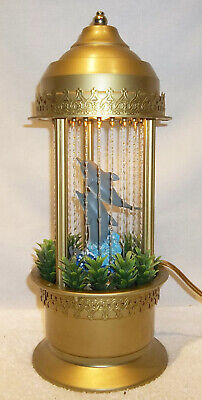 Vintage Mineral Oil Rain Dolphin Table Motion Lamp WORKING FINE