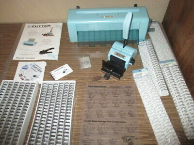 lot zutter bind-it-all binding machine dreamkuts page cutter supplies owires
